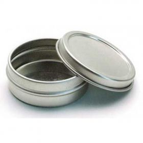 Tins with lids perfect for packaging of creams, balms, salves, and container candles.
