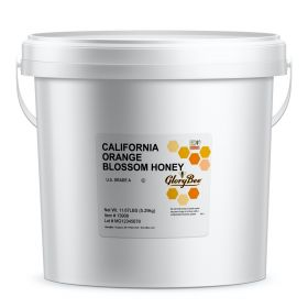 Orange Blossom Honey - Produced in the spring in California. It is the most popular honey in America and has a delicate flavor of oranges. All natural honey in 1 gallon bucket.