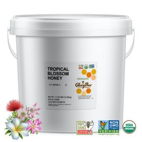 Organic tropical blossom honey is harvested in remote tropical regions around the world. Supporting these rainforest farmers helps ensure the preservation of these lands. This high quality organic honey is a very flavorful, multi-floral honey. It is perfe