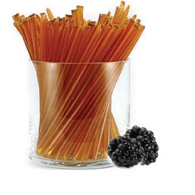 Pure clover honey with all-natural blackberry flavor. HoneyStix make a great all-natural treat for lunches, after-school, and outdoor adventures. A sweet, go-anywhere snack! 100 Stix Per Bag. Kosher certified by Orthodox Union.