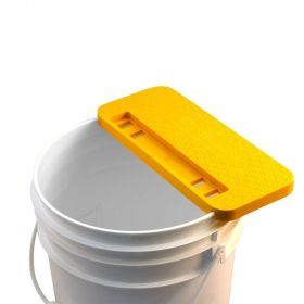 A handy tool that rests on the top of a 5 gallon bucket that allows for easy uncapping a frame of honeycomb. Fits any standard 5 gallon bucket. Underside recessed arch provides added stability. Hands-free capability allows user to walk away while frame si