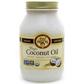 When you use Aunt Patty's Fair Trade Extra Virgin Coconut OIl, you're helping assure fair wages for coconut farmers in the Philippines. They engage in environmentally-friendly practices and use these funds to become more self-sufficient. Coconut Oil is ma