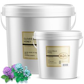 Clover Blend Honey is a rich, sweet-tasting honey that varies in color from extra light amber to white. All natural honey in a 1 gallon bucket.