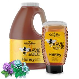 Enjoy the sweet, delicate flavor of clover blossom honey. This pure, unfiltered honey is more than a natural sweetener, it's a call to action for everyone to pitch in and help save the honey bee. GloryBee donates 10% of all sales of SAVE the BEE honey to