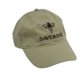 "Show your support for the worldÆs great pollinators with our ""Save the Bee"" hat."