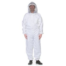 These comfortable heavy-duty beekeeping suits have a zipper-front with an easy-to-zip detachable mesh veil. Made from a durable cotton polyester blend, these heavy-duty beekeeping suits will last many seasons while keeping you safe from bee stings.