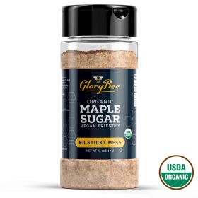 Aunt Patty's organic maple sugar is made from pure maple syrup that has been turned to crystals and ground for use in recipes - adds a wonderful, rich maple flavor to baked ham, ice cream, and other desserts without using artificial maple flavoring.