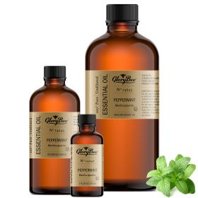 Peppermint - mentha piperita (steam distilled from the flowering herb) grassy, minty scent. Anti-inflammatory, antimicrobial, antiviral, astringent, expectorant. 100% pure, undiluted oils.