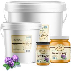 A raw, certified organic honey that meets European standards for bee pollen content. Because of the unique way our honey is handled, it retains the bee pollen normally lost during processing. Our raw honey is never heated over 115f and is only strained, n