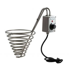 Stinaless steel heater for Honey Storage Tank. Adjustable temperature.