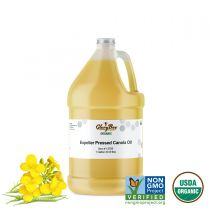 Canola oils are either expeller pressed or solvent extracted, and we prefer the expeller pressed cold processed oil for its exceptional cooking qualities. This oil is certified Organic and made with GMO free canola.