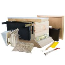 Are you serious about keeping bees? This kit offers components for the more serious hobbyist. The metal telescoping top provides improved protection against harsh weather, and tools such as the frame holder and J-hook hive tool make checking multiple hive