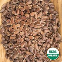 Organic whole brown flax seeds have a nutty flavor and are excellent when added to baked goods such as breads, muffins, granola, biscuits and pancakes.