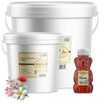 Organic Tropical Blossom Honey has a warm caramel aroma with deep notes of molasses. The flavor is floral, herbaceous, and sweet. Depending on location and source, Tropical Blossom Honey varies in color but is typically light amber to amber and has a b