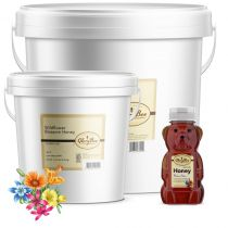 This honey's flavor is uniquely floral and herbaceous. By pollinating multiple flower sources or varieties, each hive's honey cantaste different from year to year, much like wine vintages. Wildflower Honey tends to vary in amber color. Like m