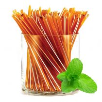 One of our five original flavors! Refreshing and sweet peppermint HoneyStix make a great all-natural treat for lunches, after-school, and outdoor adventures. A sweet, go-anywhere snack! 100 Stix Per Bag. Kosher certified by Orthodox Union.