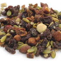 Made with premium, all-natural ingredients, Aunt Patty's Mt. Baker Trail Mix is our top seller. Containing just the right blend of soft and chewy dried fruit, crunchy nuts and flavorful seeds, it is packed with wholesome nutrition including protein, di