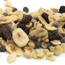Aunt patty's Mt. Hood trail mix is a treat for the trail, it will keep you motoring through the cascade trails. It contains peanuts, cherries, strawberries, pineapple, banana and chocolate.