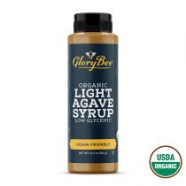 Certified organic agave syrup in an easy to use 12.5 oz bottle. This all natural sweetener taste great right out of the bottle and can be used to sweeten drinks or in baking.