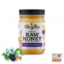 The sweet, delicate flavor and creamy texture of this truly RAW and LOCAL honey come from the nectar of a variety of Washington flowers. Honeybees forage on blossoms of raspberries, clover, and other native plants to create a uniquely Washingtonian