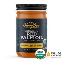 "Aunt Patty's® Organic Red Palm Oil is a mild-flavored, nutrient rich, non-hydrogenated cooking oil. Complement your favorite rice and grain dishes, spreads, sauces, soups and even popcorn! A ""Farmer to Fork"" supply chain allows us to verify sustainability"