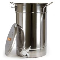 One of the least expensive of its kind, this stainless steel honey tank is perfect if you've extracted and filtered your honey, but don't want to bottle it right away. This honey tank holds approximately 220 lbs. of honey or 18 gallons.  Made from an ext