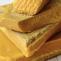Our unfiltered cosmetic grade beeswax is unfiltered and light yellow in color. Filtering may be required before use.