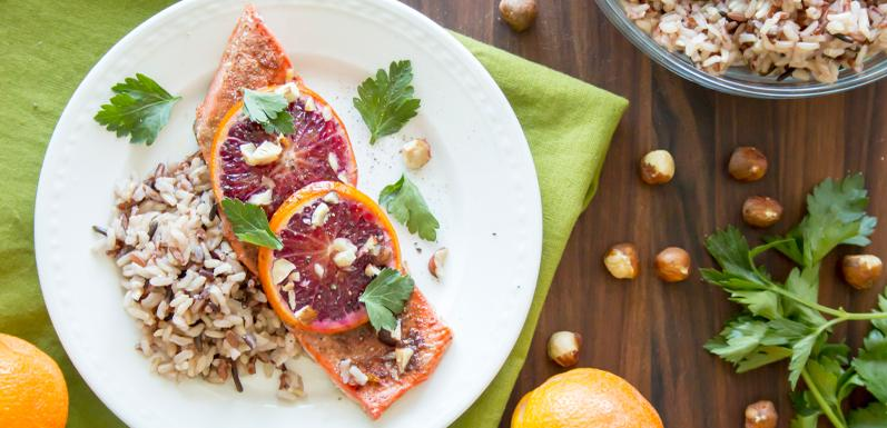 Blood Orange Roasted Salmon