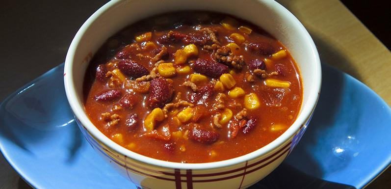 Chili Con Carne with Molasses Beans