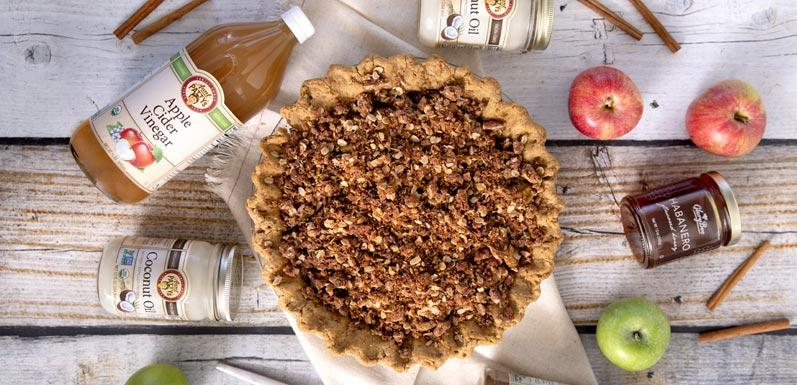Apple Pie with Peppered Pecan Crust