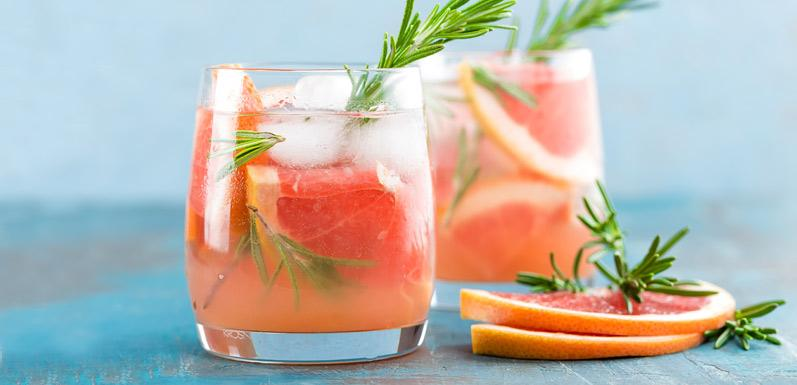 Ruby Red Rosemary Honey Spritzer